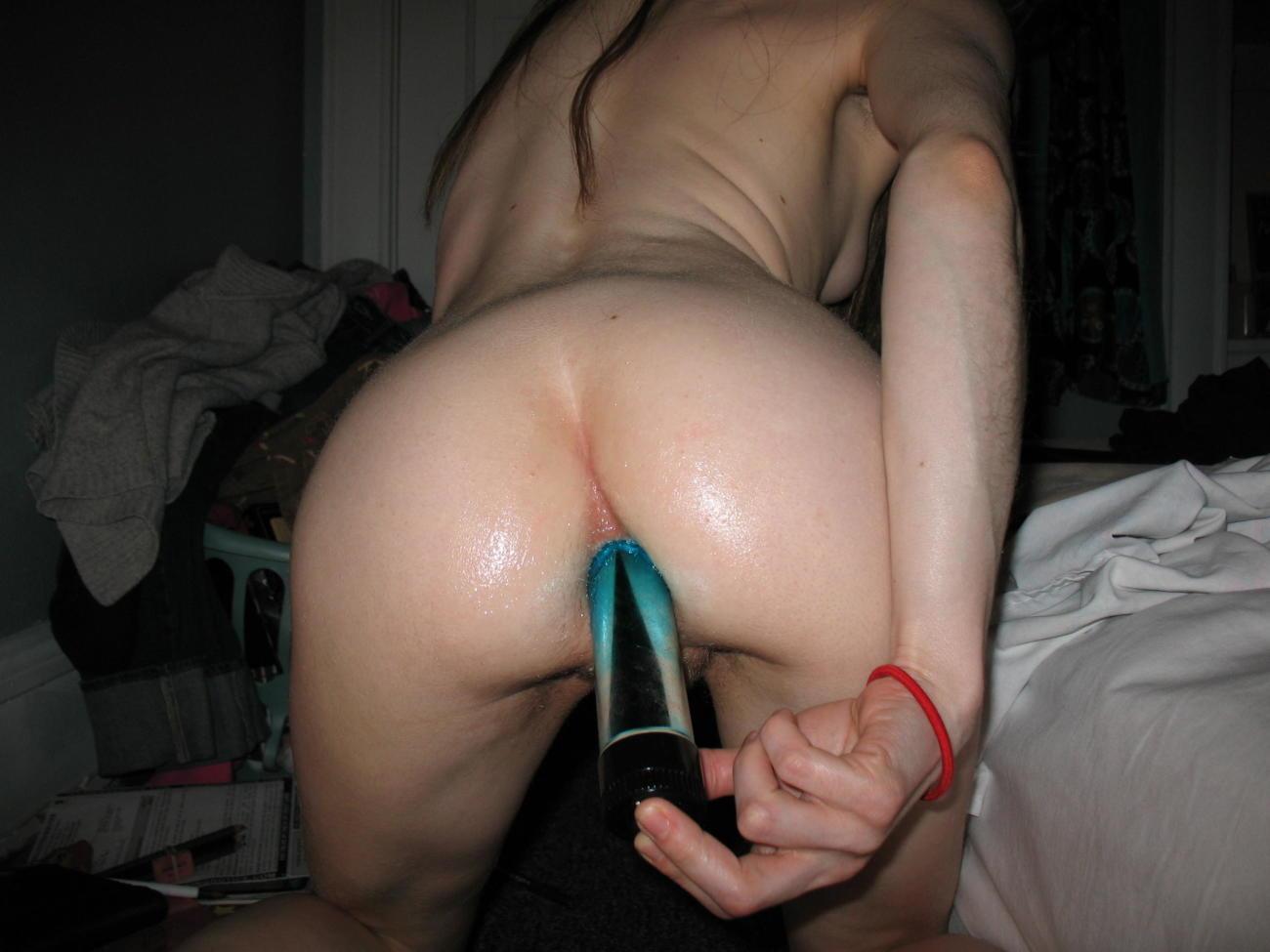 Puta masturbándose el ass (amateur) -..