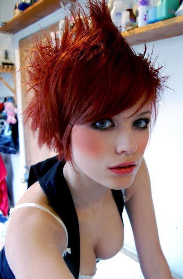 Punk Damsels with fine makeup...