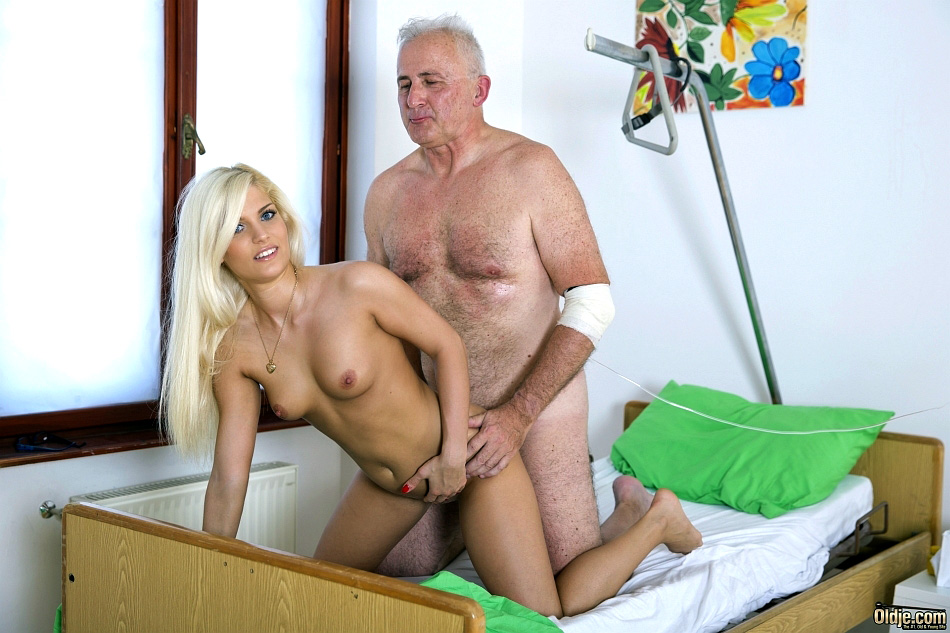Wonderful platinum-blonde young nurses..